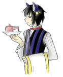 Neko Waiter -coloured- by iNeliel