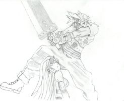 Cloud and Tifa by Joppiz