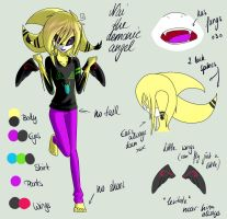 :New Adopted Character: - Nai the demonic Angel by xXCaramelAuroraXx