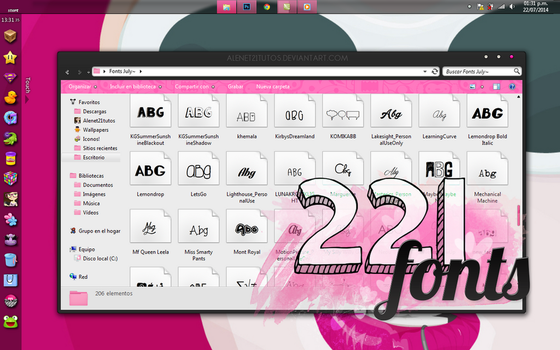 FONTS JULY by alenet21tutos