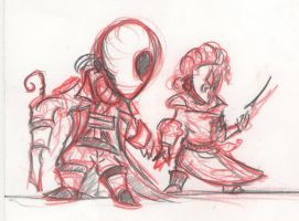 Mascots - New Britain - English Jack + Red Queen by HJTHX1138
