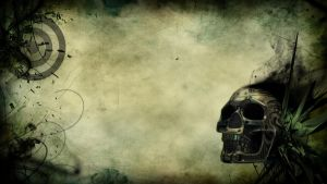 Skull PS3 Wallpaper by ZeroKriz