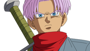 Dragonball Future Trunks Lineart Farbig by WallpaperZero