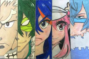Ryuko vs The Elite Four by MasterMcCraig1982