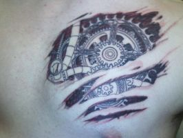 Gear Heart Tattoo -Photo- by The-Brade