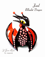 Jord, Polkadot dragon by rosepeonie
