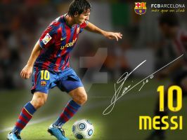 messi by prof-barca-player