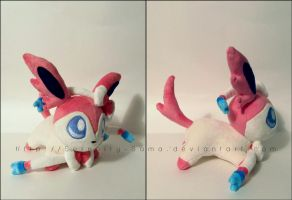 Plushie: Sleepy Sylveon by Serenity-Sama