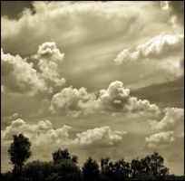 White clouds by LiveInPix