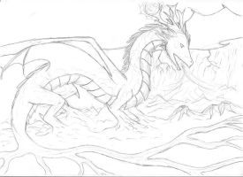 Tiamat, the mother of the world by Ferania