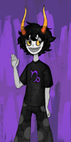 Math Class doodle: Gamzee (Color) by Dauntlesse