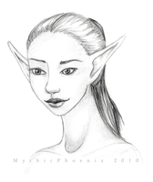 Elf portrait by MythicPhoenix