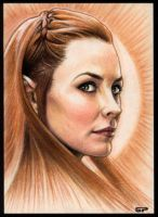 TAURIEL SKETCH CARD II by S-von-P