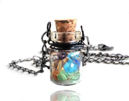 SOLD - Swarovski Crystal Magic Bottle Necklace by crystaland