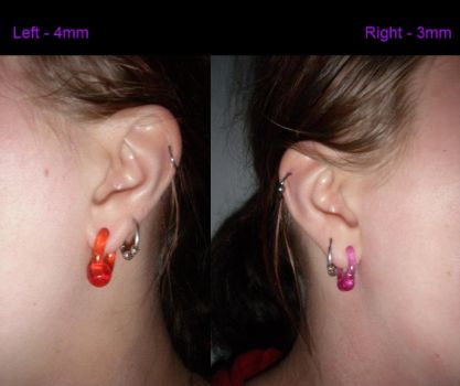 Ear lobe stretching project - 3/4mm by Morthax