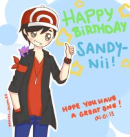 Happy Birthday Sandy-nii~ by Pencil-Doodles