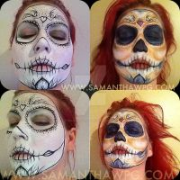 Step by step skull candy concrete minerals make up by VisualEyeCandy