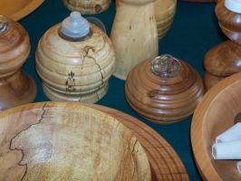 Wooden Oil Lamps by bleedingpyre