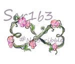 Infinity heart floral arrangement - Color by Scr1b3