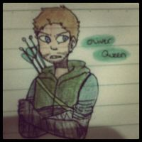 Oliver Queen doodle by taiga-Ky