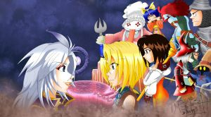 Kuja vs. Zidane and companions by FantasyYitan