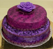 Purple cake by MorganCrone