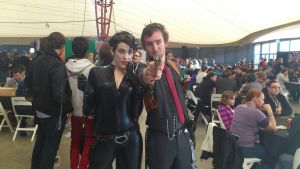 Booker Dewitt and Cat Women by Kay-Niner-Cosplay