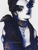 Raven Girl by LilaCattis