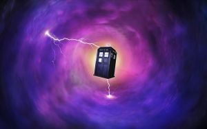 Tardis in wormhole by omnidipus