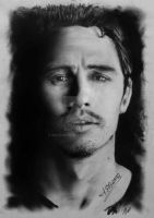 James Franco drawing by mathio91