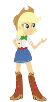 Equestria Girl Applejack by Sam-F-Nacman