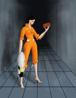 Chell from portal by DingusXIII