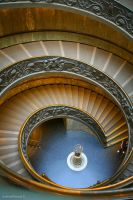 Spiral stairs by Khaotico