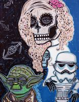 Star Wars Sugar Skull by barbosaart