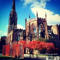 Snippet of life (9) Coventry Cathedral by brain-slug