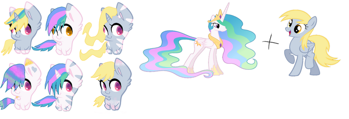 celestia + derpy adopts FREE by just-duh