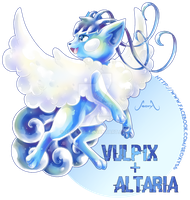Vulpix X Altaria [closed] by Seoxys6