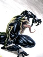 Venom pin up by WilliamSoaresArt