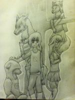 MarcusSonn Fan Art Challenge - Group Redrawing by TheDragonInTheCenter