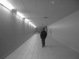 walking down the hallway stock by smokerscoughjoe
