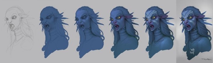 Neytiri WarPaint progress by Boris-Dyatlov