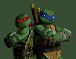 Leo and Raph by booyakasha-bro