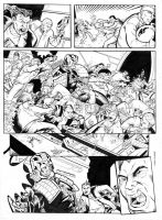 Judge Dredd page 5 inked by GibsonQuarter27