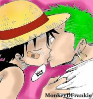 One Piece - Kiss [Royal Garden] by MonkeyDFrankie