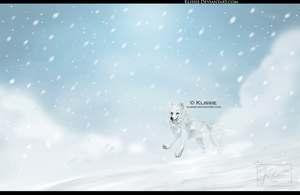 Flying With the Snow by Klissie