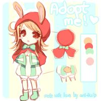 Auction Adopt: Little Red Riding Bunny by Emi-Liu