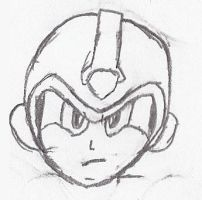 Mega Man X head by MathewWite