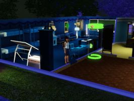 Sims 3 - Kitty Katswell is going to bed by Magic-Kristina-KW