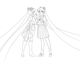 Sailor Moon Lineart by Blaknite