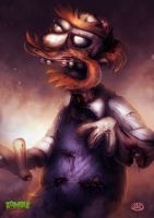 Zombie Simpsons: Groundskeeper Willie by danosborne